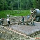 Concrete floor construction.